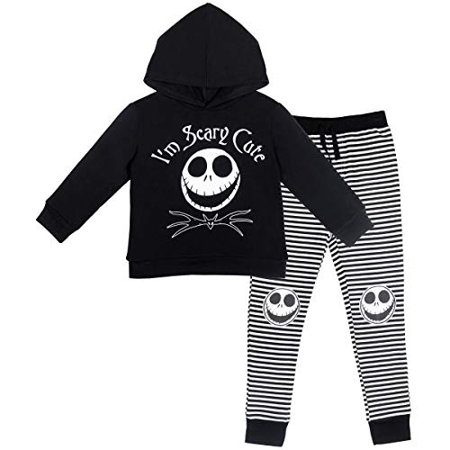Disney Nightmare Before Christmas Jack Skellington Baby Boys Hoodie Pant Set 18 Months Black