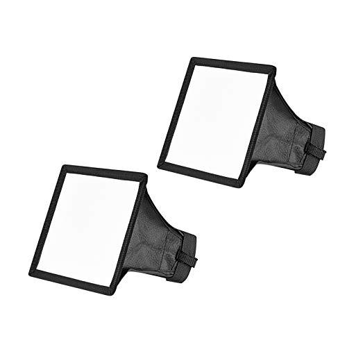 Neewer 2pz Diffusore 15x13cm per Speedlite Softbox Flash per Canon 580EX II 600EX-RT, YongNuo YN560 III, Nikon SB-900 SB-910, Neewer TT560 TT520 TT660 & Altri Flash di Reflex Digitali