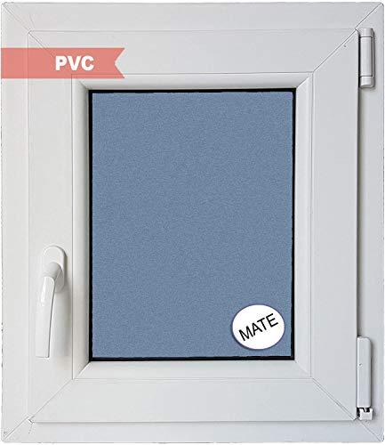 Ventanastock Ventana PVC Practicable Oscilobatiente Derecha 500 ancho x 600 alto 1 hoja con vidrio Carglass (Climalit Mate)