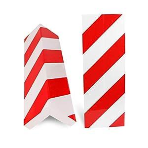 BUZIFU-2pcs-Proteccin-para-Parachoques-Espuma-para-Golpes-Las-Franjas-Rojas-y-Blancas-Protectores-para-Esquinas-de-la-Columna-del-Garaje-para-Cualquier-Persona-que-Quiera-Evitar-el-Temido-Araazo