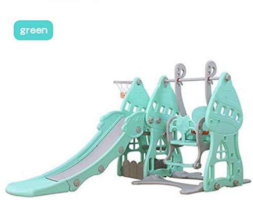 MEETGG Deslizan en el Interior cestas oscilante del bebé Centro de Actividades Dentro de la Industria del Juego Escalador Juguetes de Juego al Aire Libre para los más pequeños, tobogá.