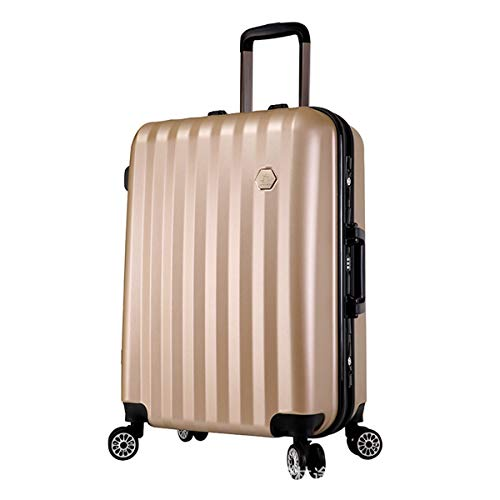 fosa1 Hand Luggage Trolley case ABS+ PC Convenient Trolley Case,Super Storage Luggage Bag,Wheels Travel Rolling Boarding,20' 24' Inch (Color : Gold, Size : 24inch)