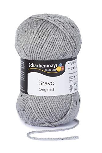Schachenmayr Handstrickgarne Bravo, 50g Hellgrau Tweed
