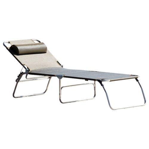 Jan Kurtz 492701 Amigo BIG Chaise Longue à Trois Pieds en Aluminium et Plastique Noir 40 x 75 x 207 cm