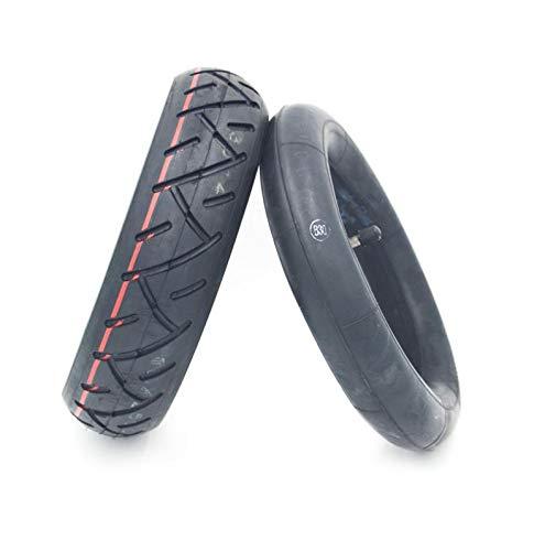 HUAQINEI Neumáticos Delanteros y Traseros Interiores y Exteriores para Scooter 10 × 2.5 Neumático Negro Antideslizante Duradero Engrosado a Prueba de explosiones
