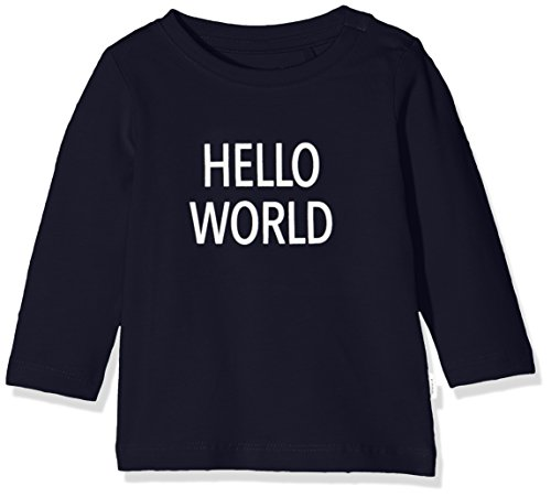 NAME IT NAME IT Unisex Baby NBNDELUFIDO LS TOP NOOS T-Shirt, Blau (Dark Sapphire), 50