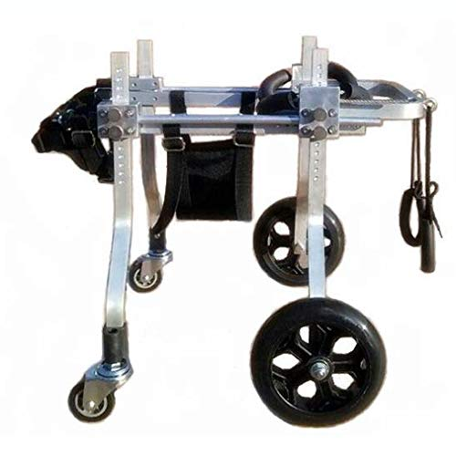 HYYGMT-1 arnés de movilidad para perros, cochecitos de perros, silla de ruedas ajustable, silla de ruedas para mascotas con 4 ruedas para perro discapacitado para silla de ruedas Veterinario aprobado