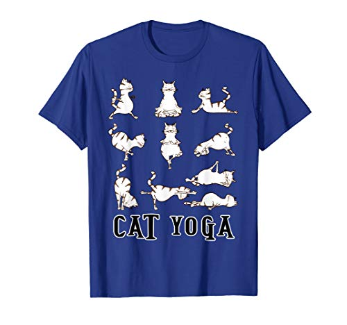 Fun Katze Yoga Geschenk T Shirt für Männer, Frauen, Kinder, LT