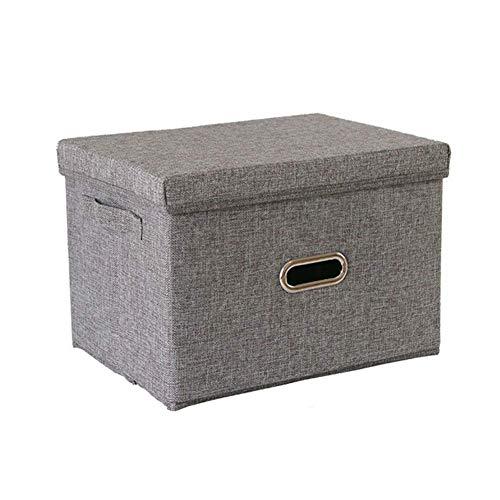 Estante Cestas Ropa Caja de Almacenamiento con Tapa Oxford Paño Caja de Juguete Caja de Almacenamiento Caja de Almacenamiento Plegable GVCVCXVDFG/Brown / 32 * 24 * 18cm TINGG