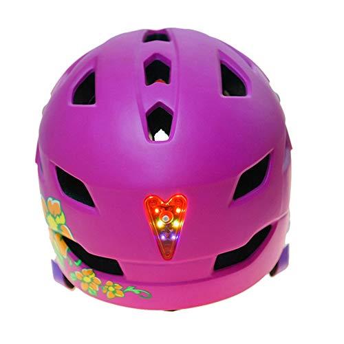 Helm ZWRY Kind 4-8 jaar Motorfiets Fietshelm Ledlicht Fiets Beveiliging Klimmen Skateboardhelm