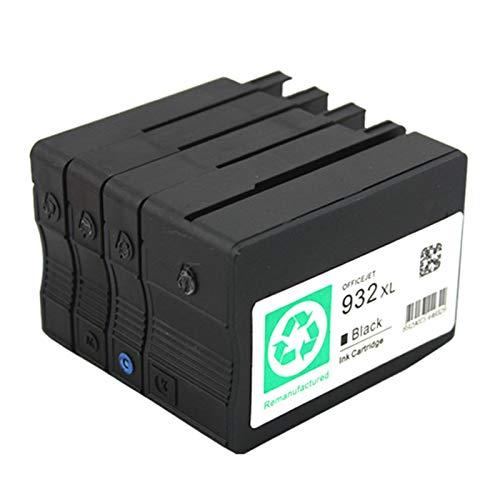 SXCD Cartucho de tinta 932XL 933XL para HP, repuesto para impresoras OfficeJet Pro 7510 7612 7110 7610 7512 6600 6700 6100 Cartuchos de tinta compatibles (4 unidades) BK LM LY LC cuatro colores