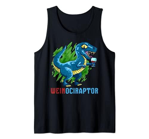 Du liebst Dinosaurier und Wein du bist ein Weinociraptor Tank Top