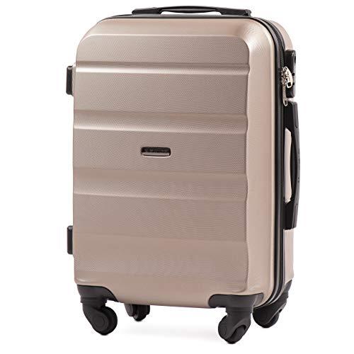 VINCI LUGGAGE Geräumiger Kabinentrolley - Leichter Flugzeugkoffer - Luxuriöser und moderner Koffer mit zweistufigen Teleskopgriff und Kombinationsschloss...