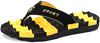 KUNYIXIAN Beach Sandals Mens Outdoor Flip Flops Male Home Indoor Slippers House Shoes Anti Skid Mens Bath Slippers