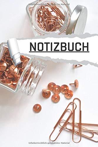 Notizbuch: Büro Utensilien in Kupfer liniert I DIN-A5 I 120 Seiten in Cremefarben I Journal