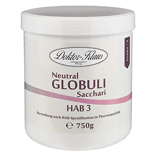 750g Neutral Globuli HAB 3, Doktor-Klaus, reine Saccharose, in weisser Dose