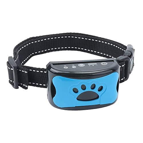 Antibell Halsband Hund, Wiederaufladbares No Harm Erziehungshalsband Hund mit Vibration, Sound und No-Schock für Kleine Mittelgroße Hunde