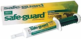 Safe-guard Equine Paste 10% Fenbendazole Horse Wormer Control Lungworm Stomach and Intestinal Apple Flavor.