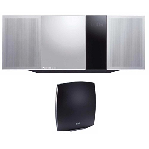 Panasonic Micro Home Sound System SC-HC39 (Metallic Silver) w/ TERK FM Antenna