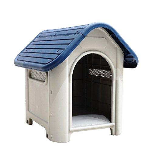 犬小屋 プラスチック製 屋外 室内 小型犬 軽量 丸洗いOK 清潔 ペットハウス ドッグハウス 犬舎 室外 屋内 △_83191
