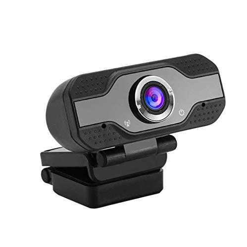 Cámara USB plug-and-play de 1080p HD con micrófono para PC. Se agregan cubierta y trípode. Dispositivo de Voip Youtube. Cámara web plug-and-play para videollamadas, aprendizaje, reuniones (negro)