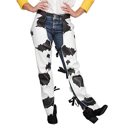 Cowboy Cowgirl Jessie Chaps Adult Halloween Costume Accessory White