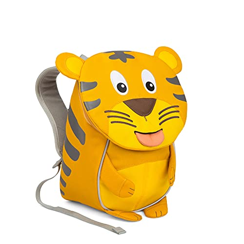Affenzahn Kleiner Freund - Kinderrucksack für 1-3 Jährige im Kindergarten - Tiger - Gelb