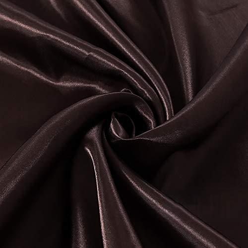 MUYUNXI Tela De Raso Forro De Tela para Vestidos De Novias Fundas Artesanías Vestidos Blusas Ropa Interior 150 Cm De Ancho Vendido por Metro(Color:café)