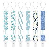 YOOFOSS Schnullerkette 6er Pack Baumwolle Baby Schnullerband Nuckelketten Junge Mädchen Schnullerketten für Schnur mit Clips Tiere