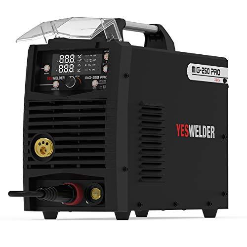 YESWELDER MIG-250 PRO Aluminum MIG Welder, 250Amp 220V, Gas Gasless MIG Welding Machine MIG/Lift TIG/ARC 3 in 1 Welder