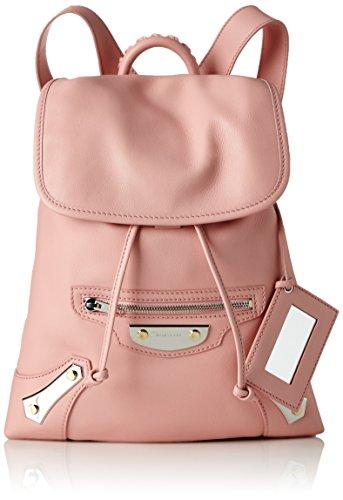 Balenciaga 420823 - Bolso Mochila de Cuero Mujer, Color Rosa, Talla 6x29x28 cm (B x H x T)