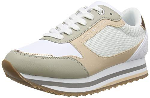 Tommy Hilfiger Damen Feminine Tommy Monogram Sneaker, Beige (Sandrift Abr), 38 EU