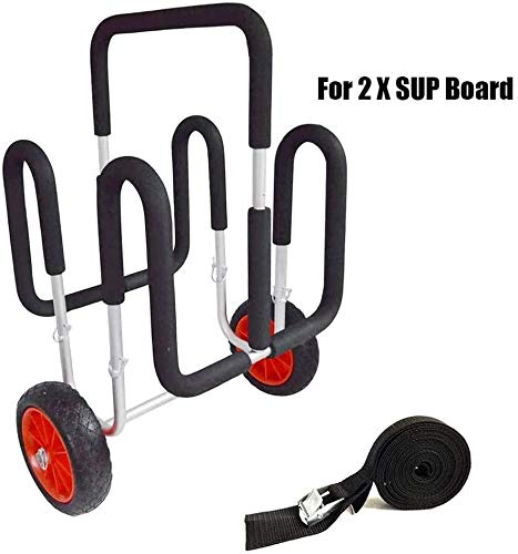 For Sale! FFKL 2 X SUP Trolleys, Inflatable Stand Up Paddle Board Cart 100 KG / 220 LB Aluminum Hand...