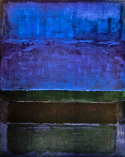 Berkin Arts Mark Rothko Giclée Leinwand Prints Gemälde Poster Reproduktion (Blaues Grün und Braun)