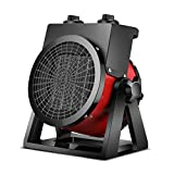 WILK Space Electric Heat Fan Forced Ceramic Heaters with Adjustable Thermostat Portable 2000/3000W Air Heater for Home Office Kitchen Bedroom and Dorm