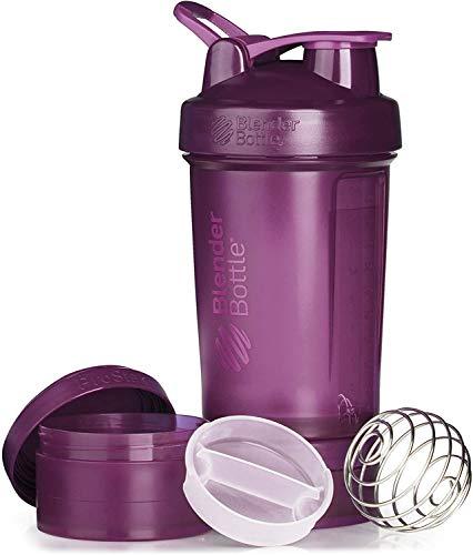 BlenderBottle ProStak Shaker per proteine 650 ml, Plum, 650 ml
