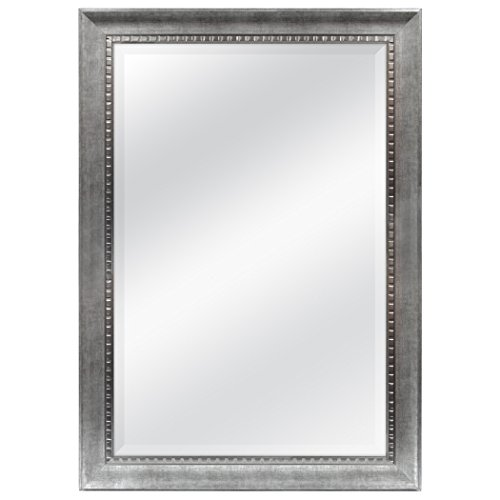 MCS 24x36 Inch Sloped Mirror with Dental Molding Detail, 29.5x41.5 Inch Overall -