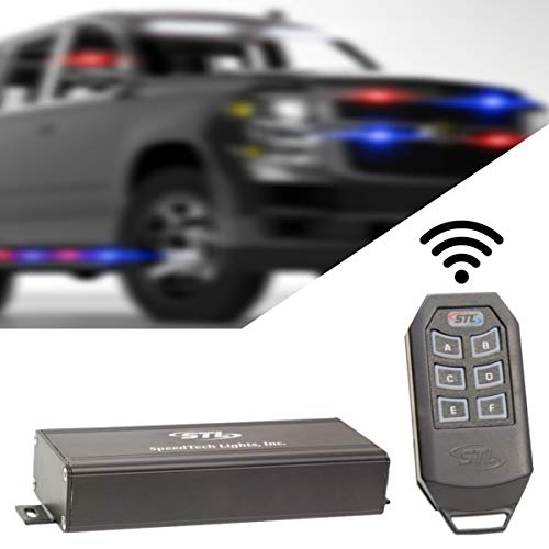 Wireless Remote 6 Switch Box with 6 Backlit LED Switch Panel- A/B/C/D/E/F On/Off Push Button Control for Automotive Emergency Vehicle Strobe Lights Toggle