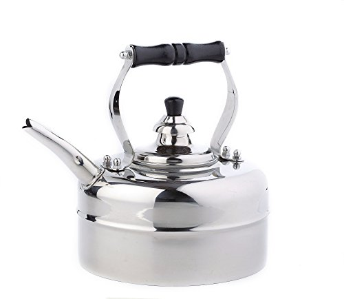 3 Qt Whistling Tea Kettle Stovetop Compatible: Gas Electric Glass; Stainless Steel, Silver