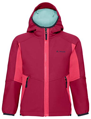 VAUDE Kinder Jacke Rondane III, Softshelle, crimson red, 134/140, 411189771400