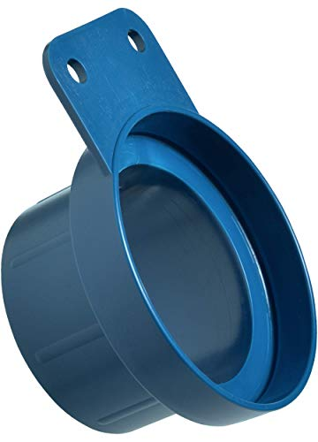 Loc-Line - 81209 Vacuum Hose Component, Blue Acetal Copolymer, Shop Vacuum Adapter with Mounting Tab