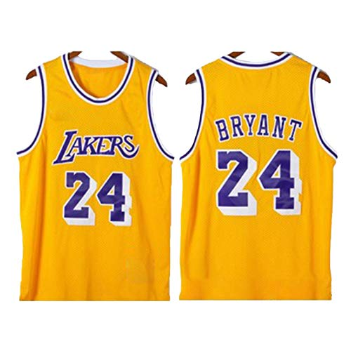 BJZX Laker # 24 Bryant, chaleco deportivo para correr, transpirable, sin mangas, repetible, limpieza de baloncesto, uso informal, para entrenamiento al aire libre, unisex, L