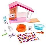 Barbie FXG34 - Möbel Spielset Hundehütte mit Hundemama und Welpe, Puppenzubehör Spielzeug ab 3...