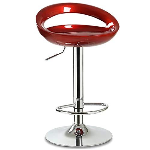 Zfggd Bar Sgabello Wine Bar Stool Fashion Wine Bar Seggiovia Sedia Girevole (Color : Red)
