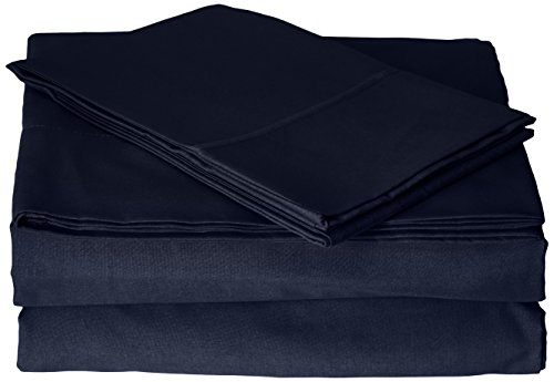 Chocolate Cathay Home Experience Luxury Microfiber Sheet Set and 2 Pillow Cases with Triple Line Embroidery King