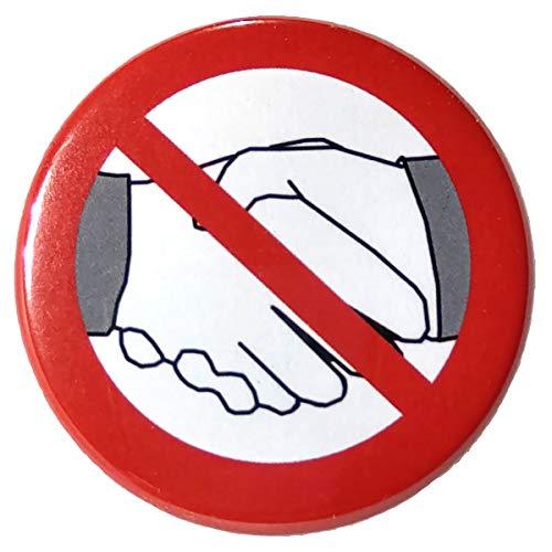 GT 10 Stück Button Anstecknadel - nicht Hand geben - kein Händeschütteln