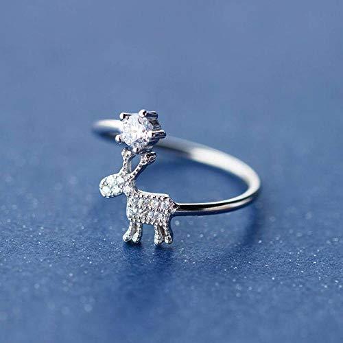 Thumby S925 Zilveren Ring Vrouwelijke Diamant Dart Ring Zoete Sneeuwvlok Index Vinger Ring