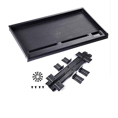Bandeja para teclado debajo del escritorio, cajones deslizantes o oficina en casa (negro)