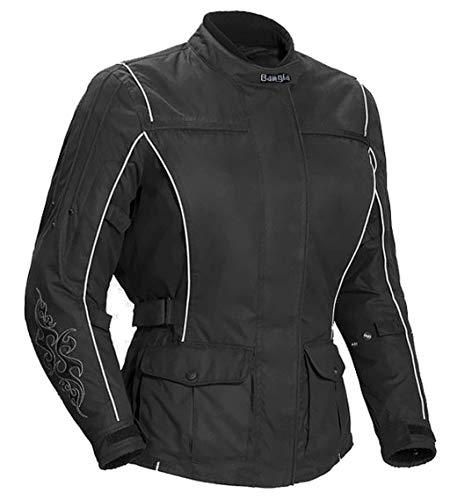 1509 Bangla Damen Motorrad Jacke Bikerjacke Textil schwarz mit Tribalmuster Gr. S