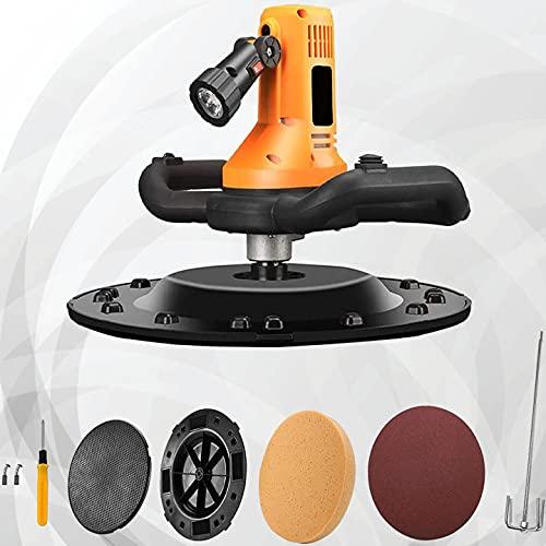GJCrafts Máquina pulidora eléctrica con 4 Piezas de Papel de Lija, Velocidad Ajustable 80-200 RPM 1700 W lijadora de Doble Mango para Cemento, máquina pulidora de Paredes